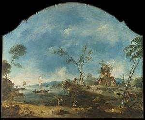 Francesco Guardi, Fantastic Landscape (c. 1765), from Wikimedia Commons.